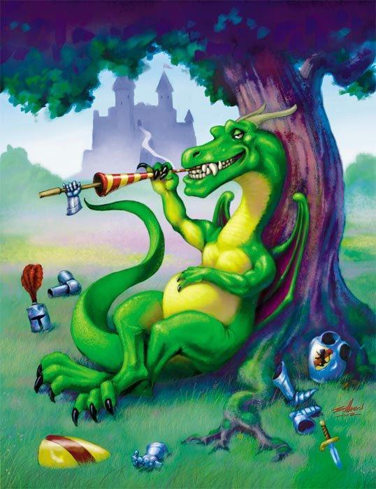 картинка злого дракона смешная