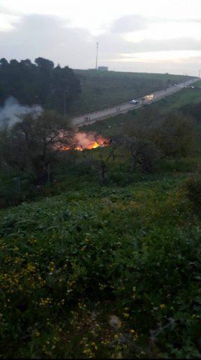 F16 ВВС Израиля сбит на территории Сирии (Lige)