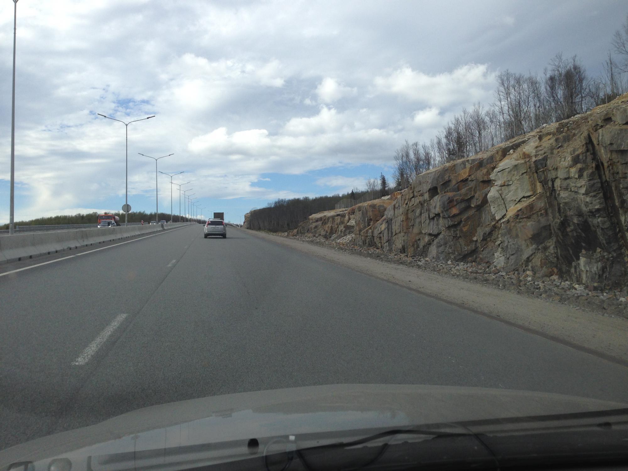 Стройка дороги ленеградка в мурманске