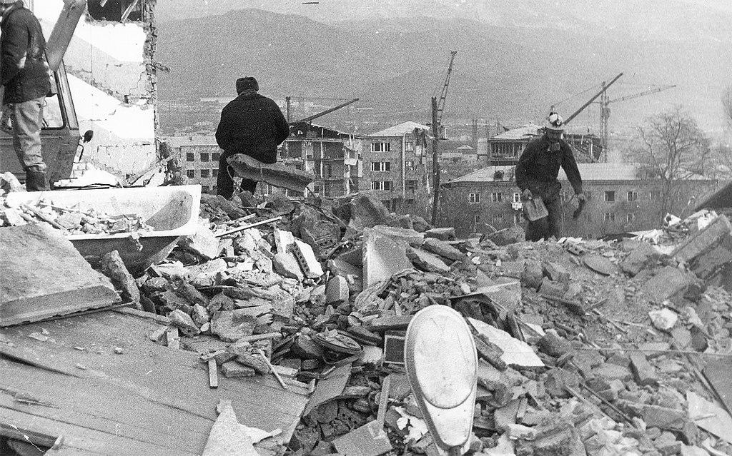 Последствия Спитакского землетрясения в Армении, унесшего жизни десятков тысяч человек / ©Wikimedia Commons