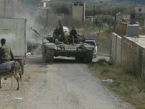 Военное положение в Сирии 19 февраля 2016 года (Туфелька)