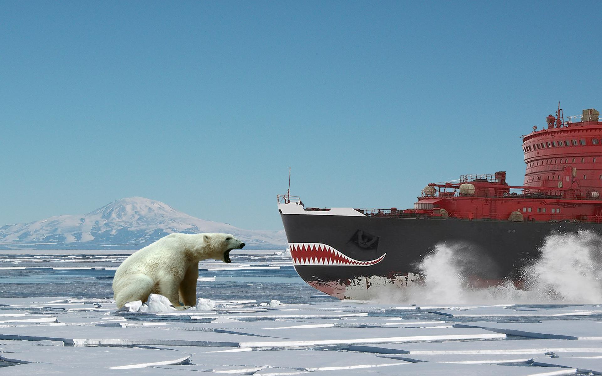 объясняет, какую фото русского ледокола в арктике этот день
