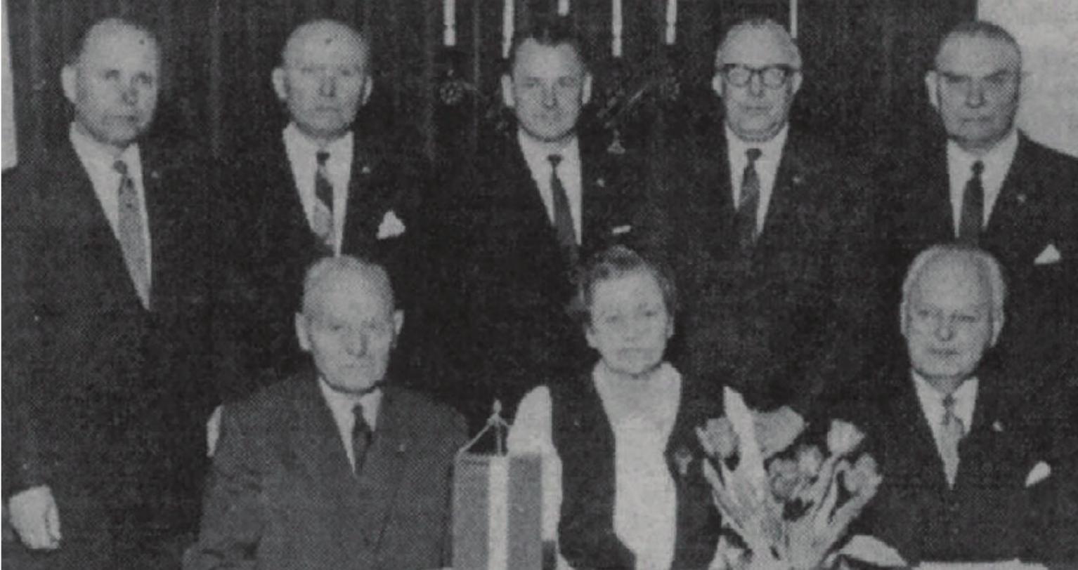 Члены правления организации «Даугавас ванаги», 1969 г.