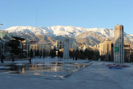 Север Тегерана, вид на горы