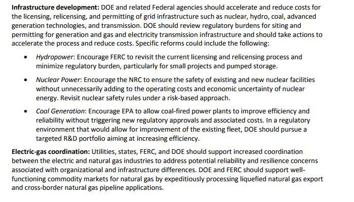 Минэнерго США: Нам нужна УСТОЙЧИВАЯ генерация - следует упростить развитие атомной, гидро и угольной энергетики (alexsword)