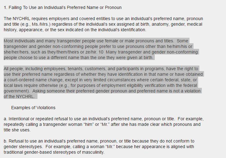 """США: В Нью-Йорке будут прессовать тех, кто откажется именовать содомитов терминами типа """"ze / her"""" (alexsword)"""