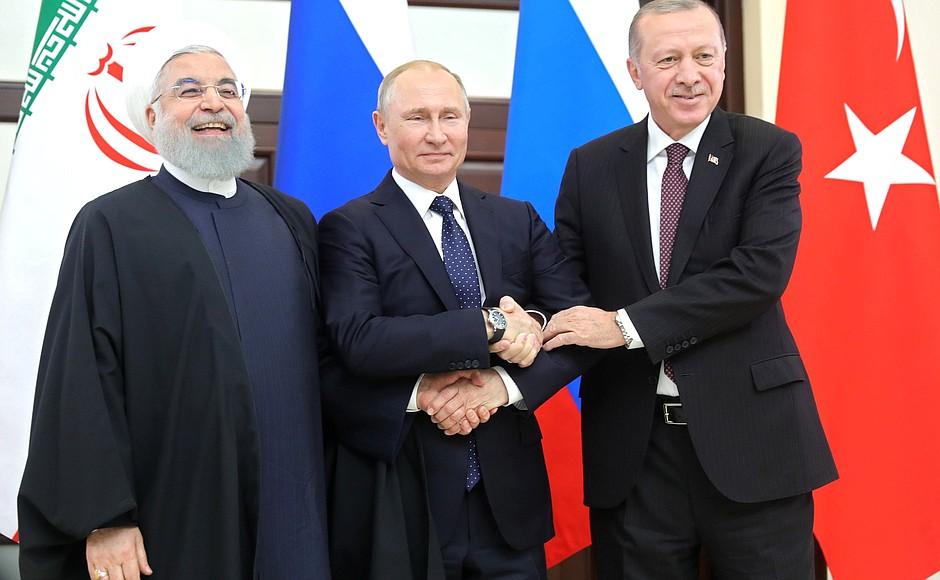 Пресс-конференция по итогам встречи Путина, Рухани и Эрдогана (alexsword)